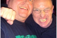 With Glenn Blake, Northampton, March 2018