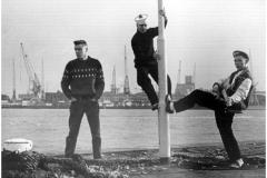 1985, promo picture, Boompjeskade, Rotterdam (NL)